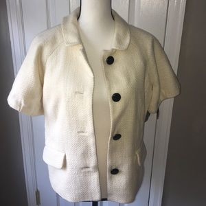🍂 Banana Republic Cotton/Wool Cropped Coat/Blazer